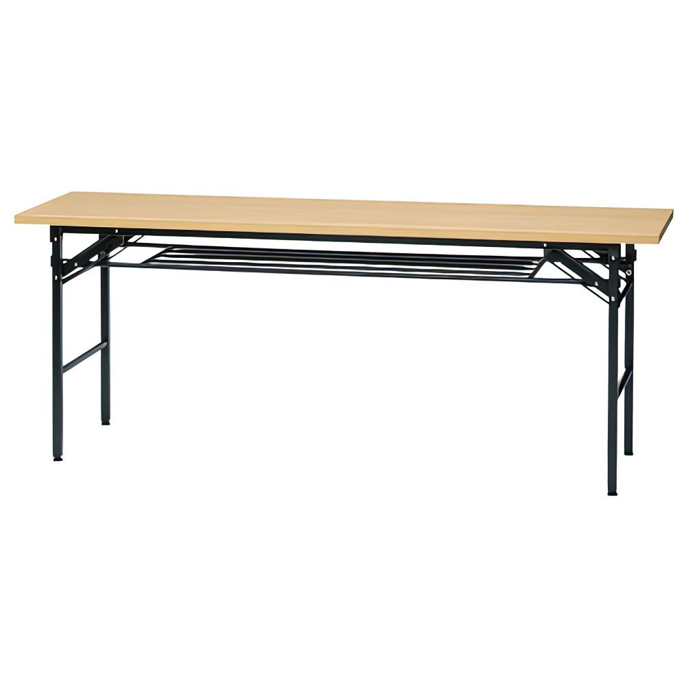 折りたたみテーブル IKシリーズ W1800×D450×H700mm 会議机 長机 ナチュラル ミーティングテーブル 会議テーブル オフィス家具