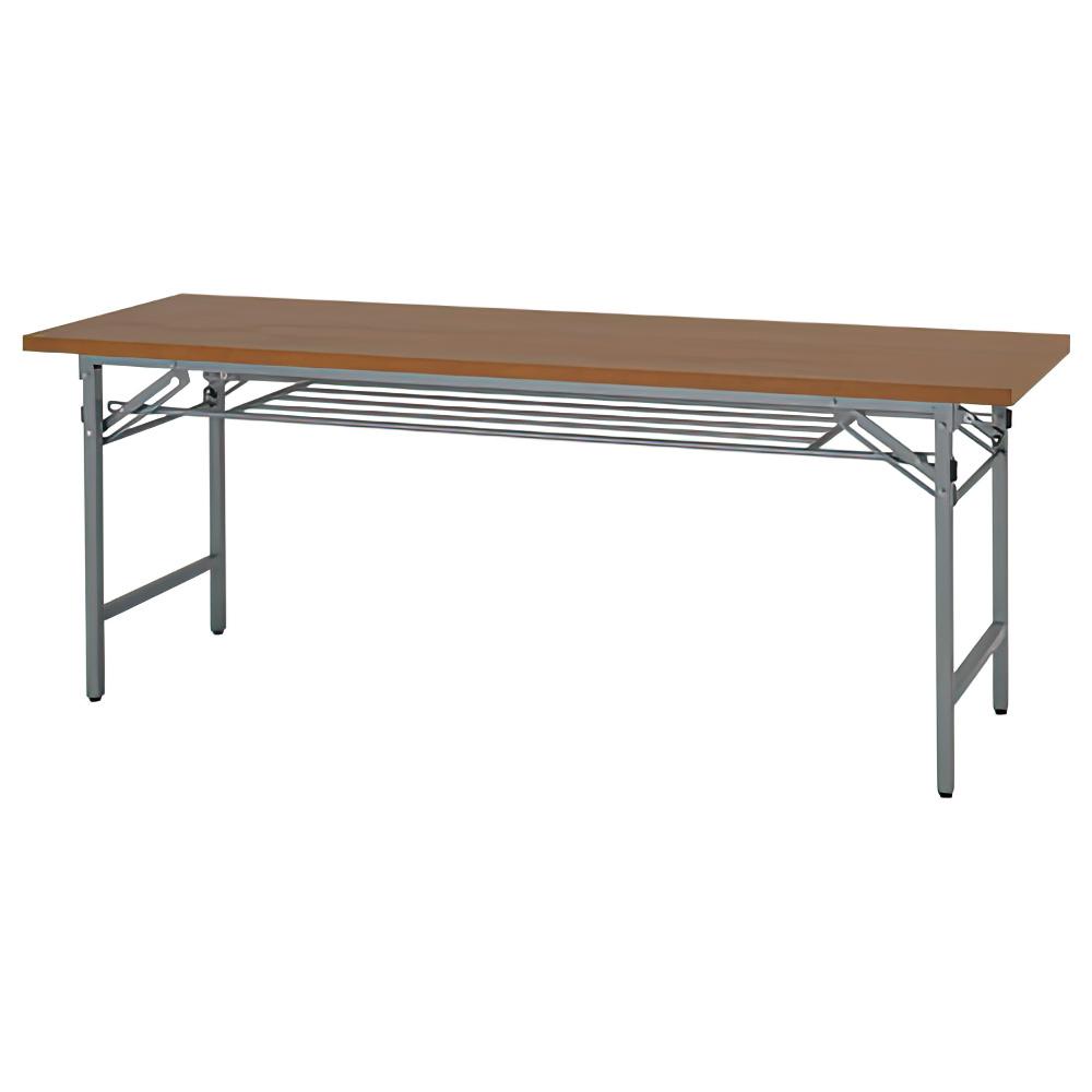 折りたたみテーブル W1800×D450×H700mm 会議机 長机 木目 ミーティングテーブル 会議テーブル 折畳 オフィス家具
