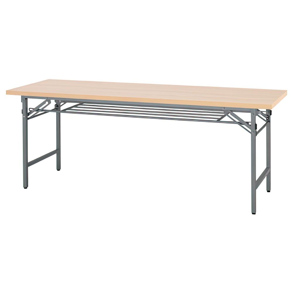 折りたたみテーブル W1800×D450×H700mm 会議机 長机 ナチュラル ミーティングテーブル 会議テーブル 折畳 オフィス家具