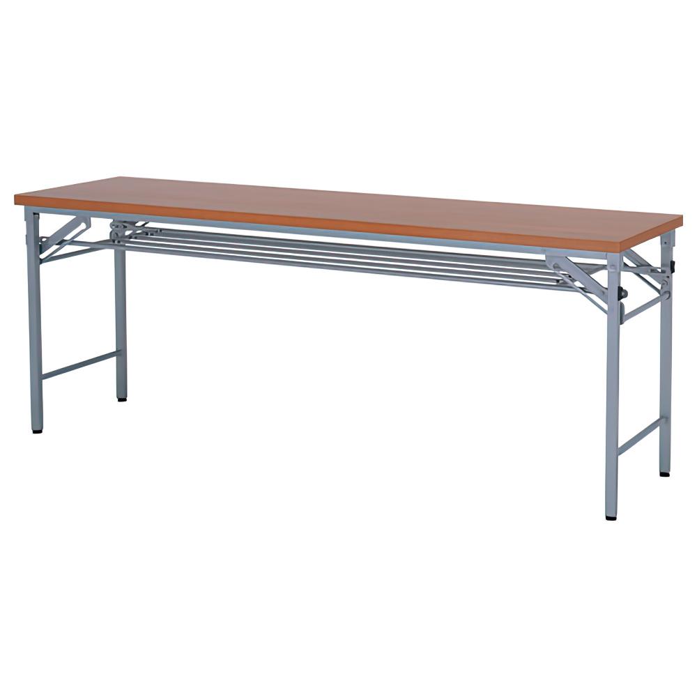 ワイド脚折畳みテーブル W1800×D450×H700mm チーク 会議机 長机 ミーティングテーブル 会議テーブル 折りたたみ オフィス家具