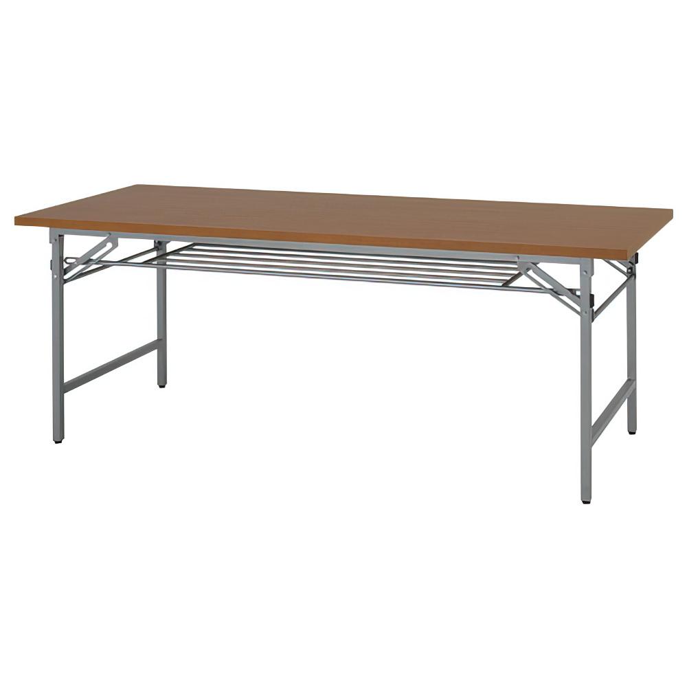 折りたたみテーブル W1800×D600×H700mm 会議机 長机 木目 ミーティングテーブル 会議テーブル 折畳 オフィス家具