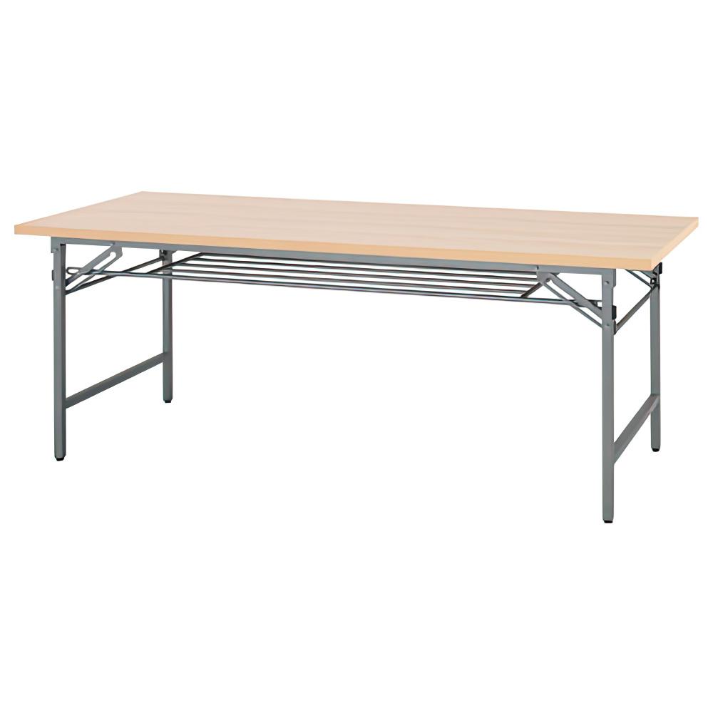 折りたたみテーブル W1800×D600×H700mm 会議机 長机 ナチュラル ミーティングテーブル 会議テーブル 折畳 オフィス家具