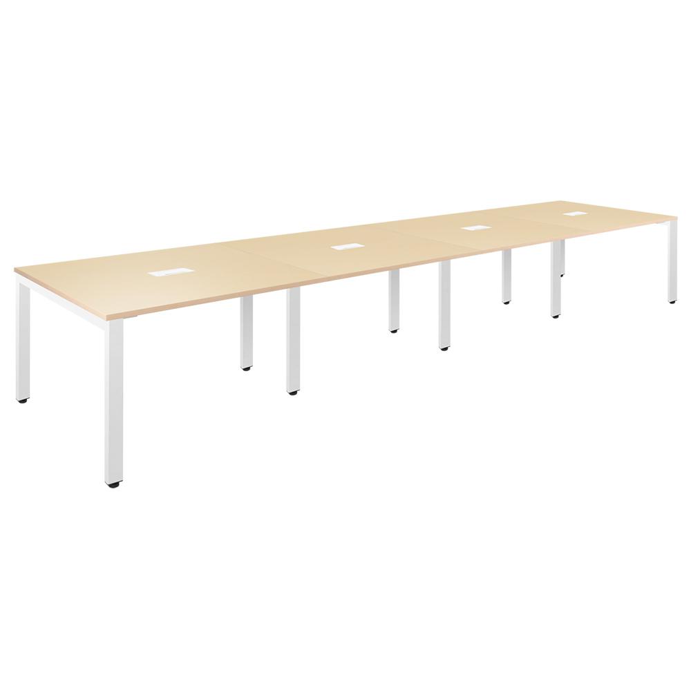 フリーアドレステーブル W4800×D1200×H720mm 会議机 グループデスク ナチュラル フリーアドレスデスク オフィス家具