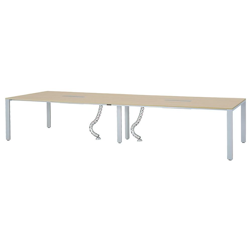 フリーアドレステーブル W3600×D1200×H700mm 会議机 グループデスク ナチュラル フリーアドレスデスク オフィス家具