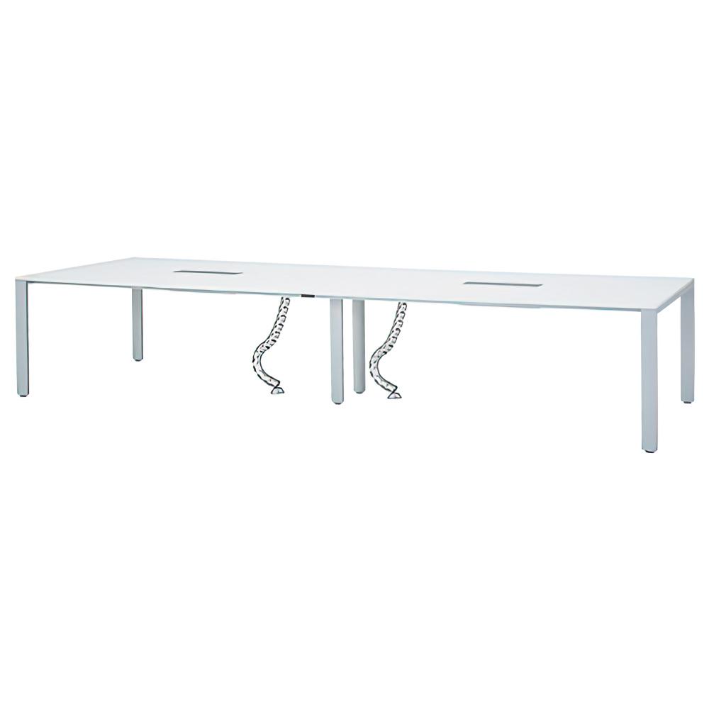 フリーアドレステーブル W3600×D1200×H700mm 会議机 グループデスク ホワイト フリーアドレスデスク オフィス家具