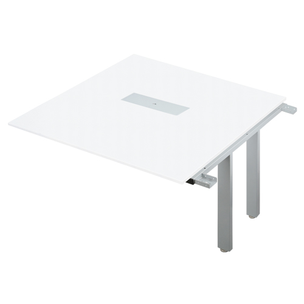 IUTSシリーズ W3600専用増連セット W1200×D1200×H700mm 会議机 グループデスク ホワイト フリーアドレスデスク オフィス家具