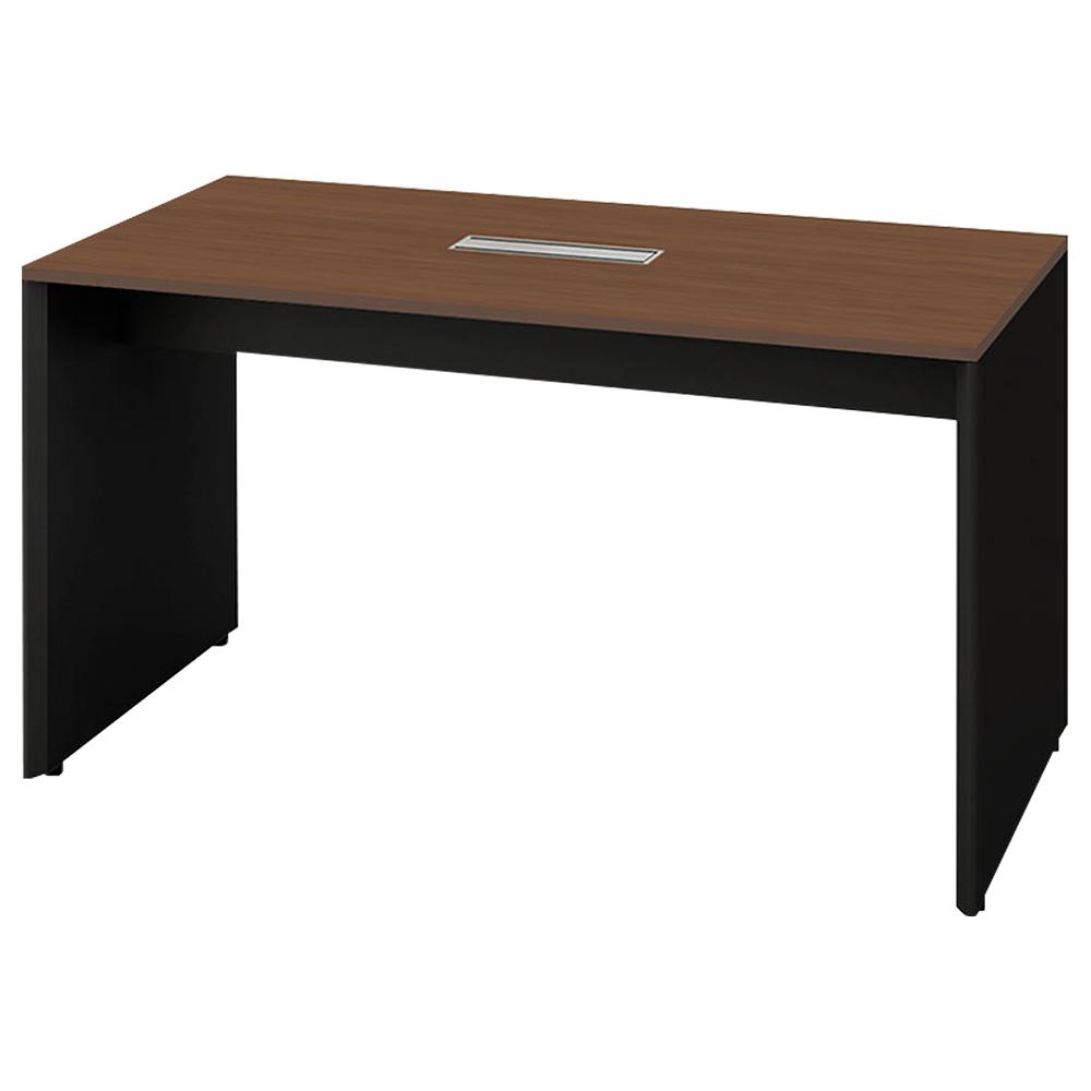 オフィス用指紋レス天板パネル脚ハイテーブル W1804 D904 H976  その他木目