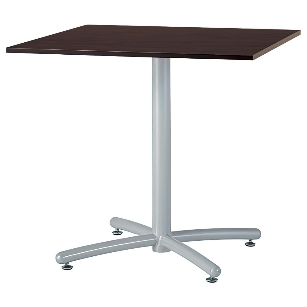 ラウンジ角テーブル W750×D750×H700mm ミーティングテーブル ダークブラウン 角テーブル リフレッシュテーブル オフィス家具