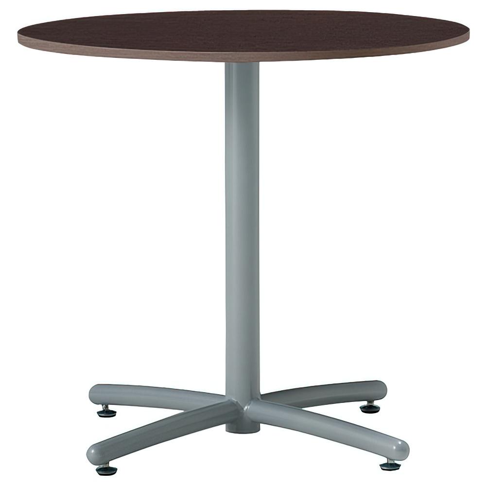 ラウンジ丸テーブル 750φ×H700mm ミーティングテーブル ダークブラウン 丸テーブル リフレッシュテーブル オフィス家具