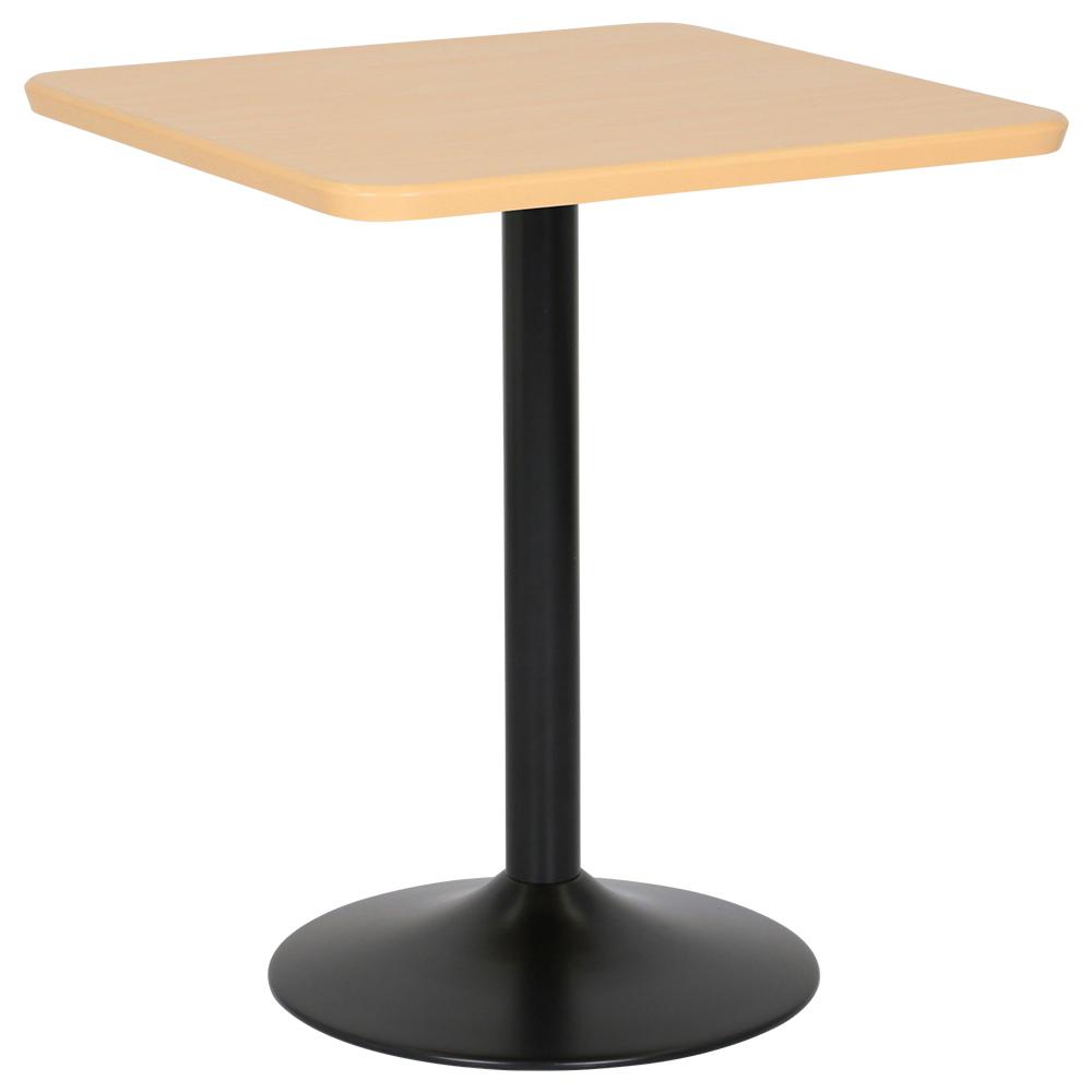 カフェテーブル ブラックアイアン丸脚タイプ W600 D600 H726 ナチュラル テーブル ラウンジテーブル 角テーブル オフィス家具 オフィステーブル 会議用テーブル