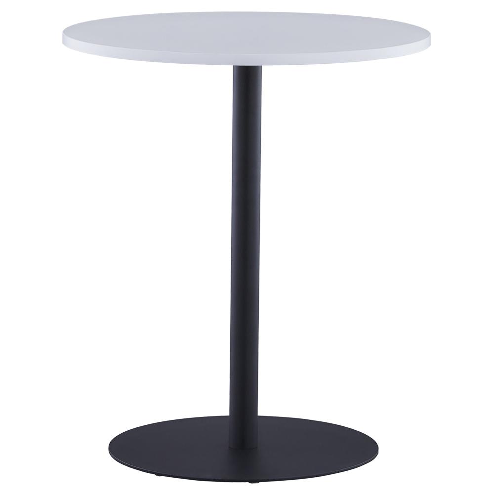 オフィス用リフレッシュテーブルIII ブラック脚タイプ W600 D600 H700  ホワイト