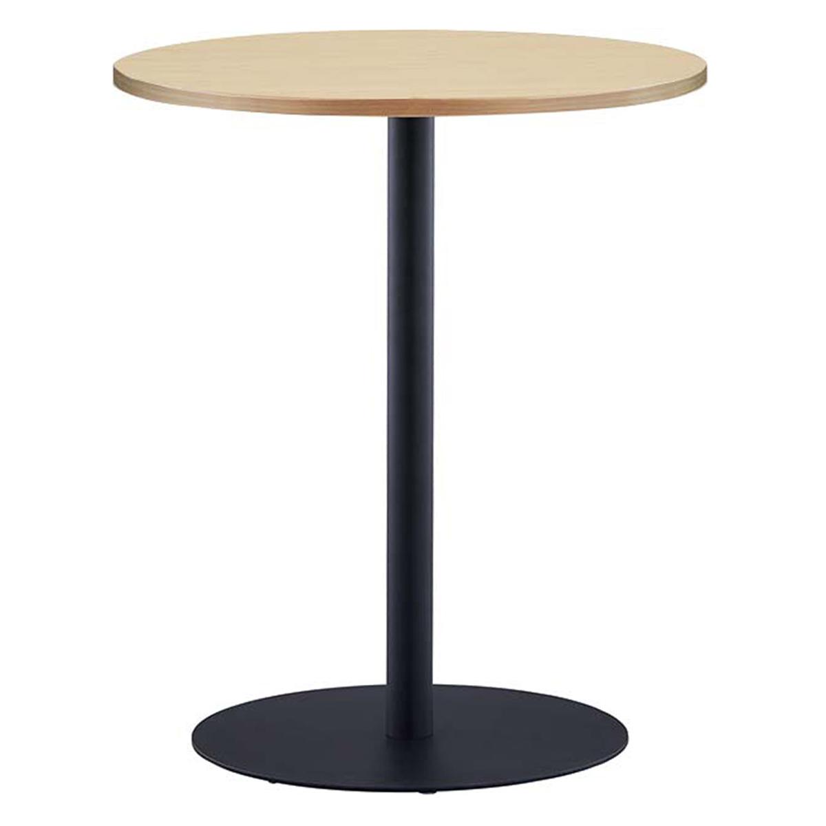 オフィス用リフレッシュテーブルIII ブラック脚タイプ W600 D600 H700  ナチュラル