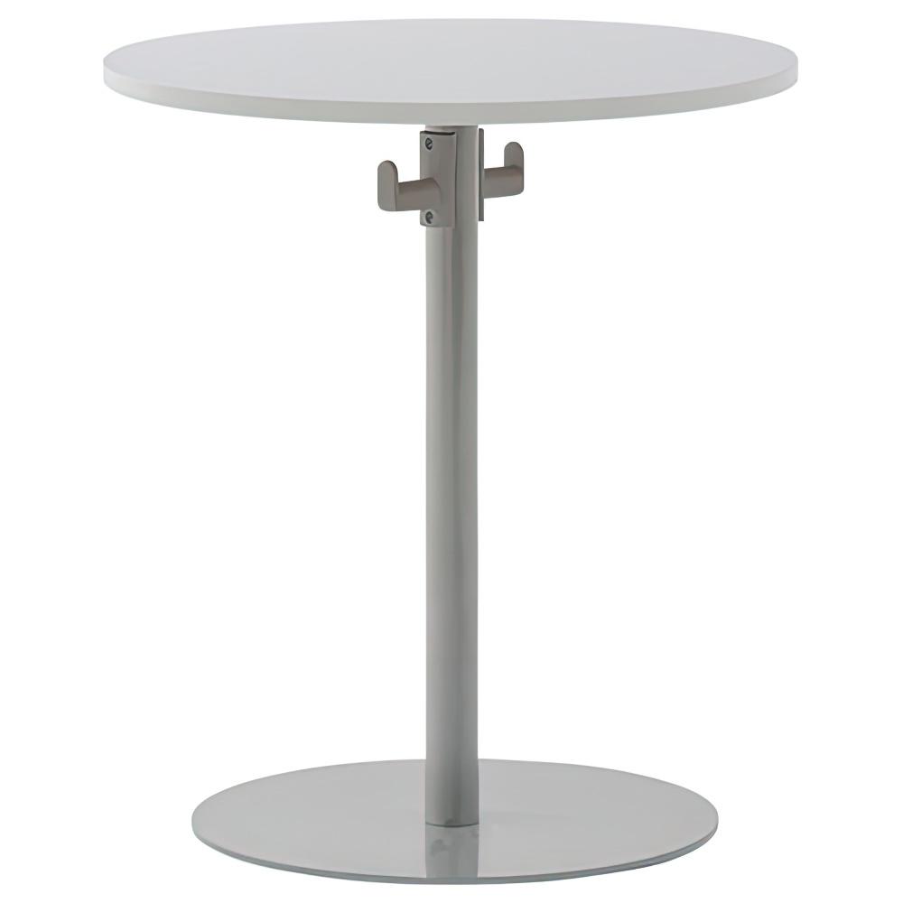 バックハンガー付きリフレッシュテーブルII W600×D600×H700mm ホワイトA ラウンジテーブル 丸テーブル オフィス家具