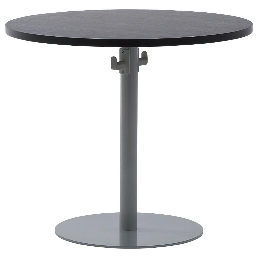バックハンガー付きリフレッシュテーブル W800×D800×H700mm ダークB ラウンジテーブル 丸テーブル オフィス家具