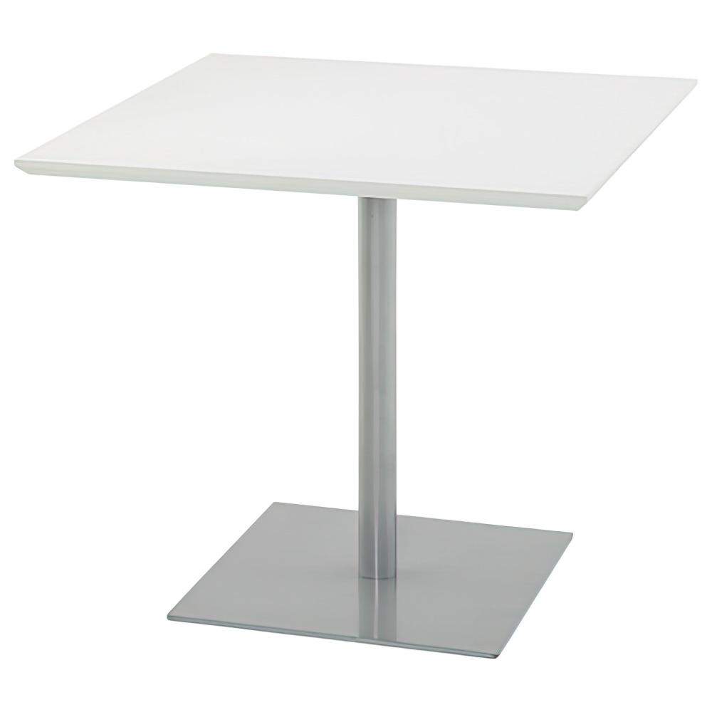 オフィス用スクエア型リフレッシュテーブル W800 D800 H700  ホワイト