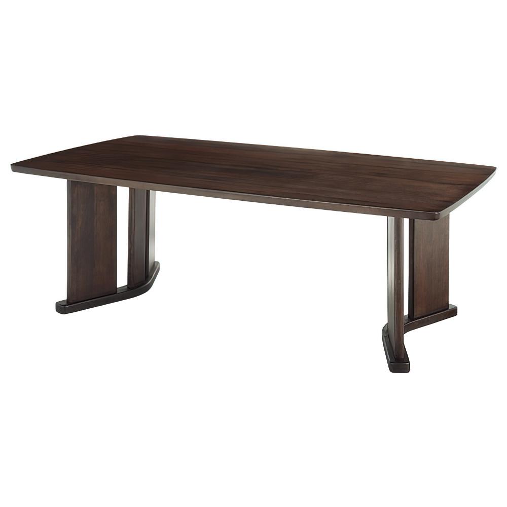 舟形高級会議テーブル  W2100×D1200×H720 ダークブラウン 木目 役員用家具 大川家具 国産家具 オフィス家具