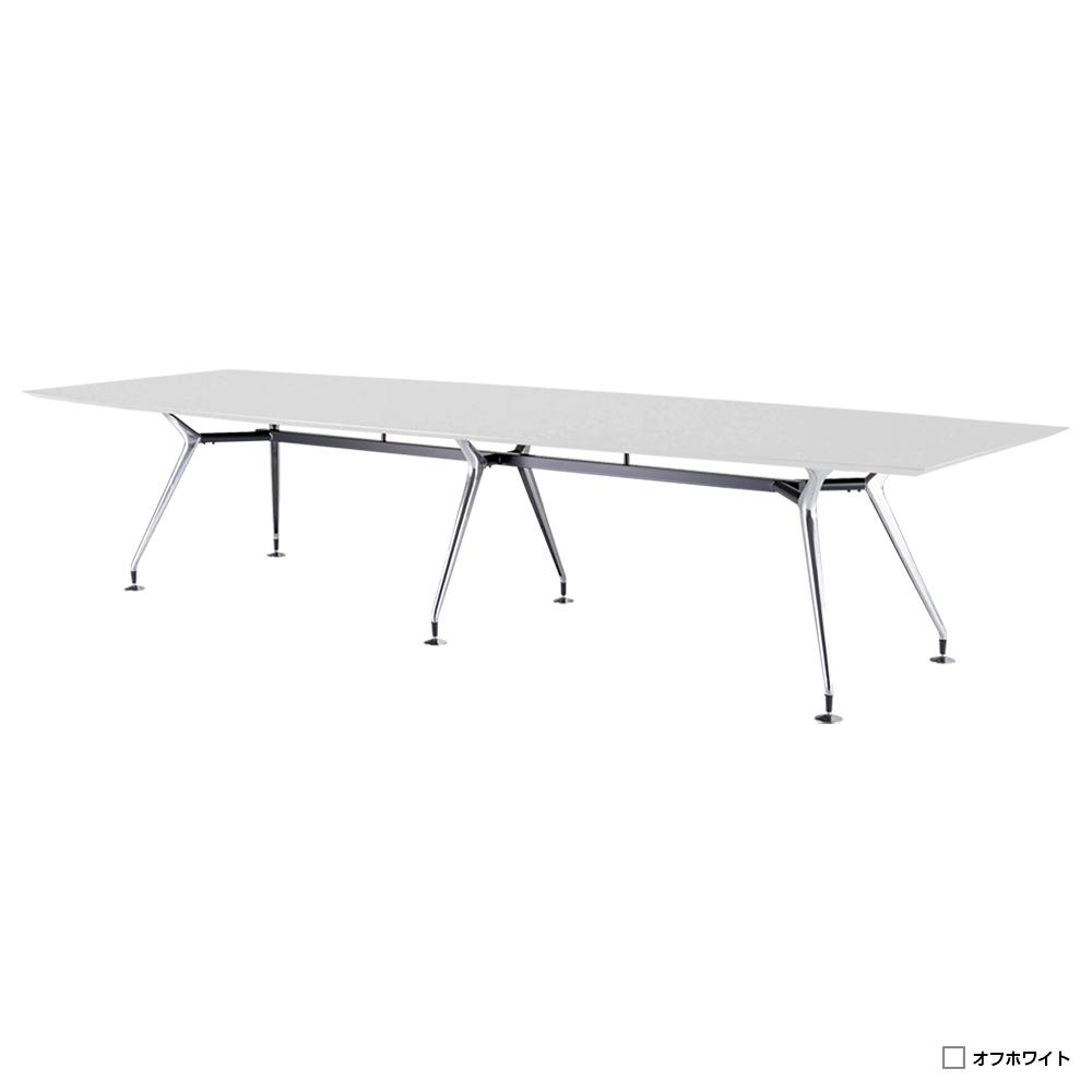 高級会議テーブル ARDシリーズ W3600×D1200×H720mm ワイヤリングBOX無し オフホワイト 会議机 グループデスク エグゼクティブテーブル 役員家具 オフィス家具