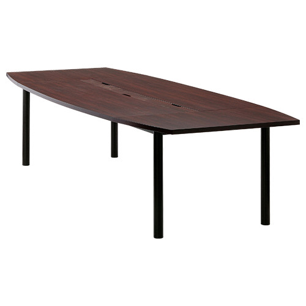 オフィス用ユニット式会議テーブル W3000 D1200 H700  ダークブラウン