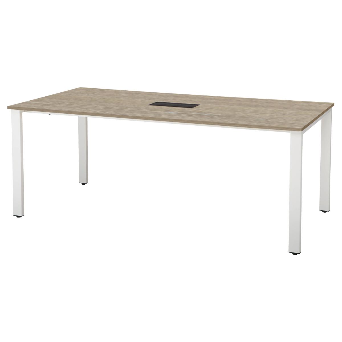 オフィス用ミーティングテーブル REVシリーズ W2100 D900 H720  ナチュラル