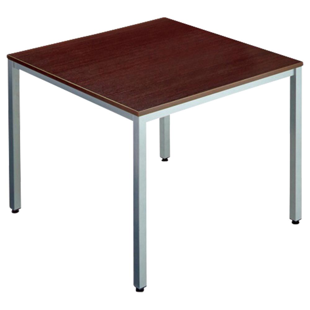 オフィス用エランサ 角型ミーティングテーブル W900 D900 H700  ダークブラウン