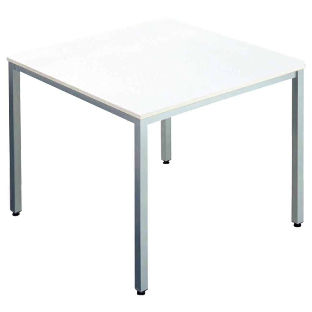 オフィス用エランサ 角型ミーティングテーブル W900 D900 H700  ホワイト