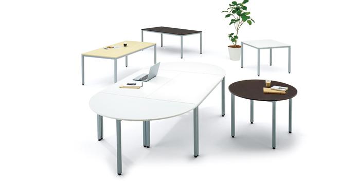 エランサ 丸型ミーティングテーブル設置例