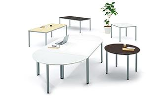 エランサ 半円型ミーティングテーブル設置例