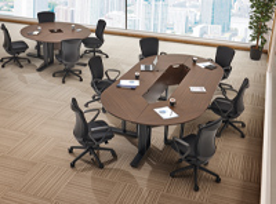 LO-YDK1560:エランサ ラウンド会議テーブル 直線タイプ
