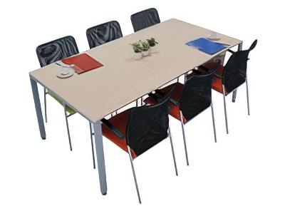 ミーティングテーブル 設置例(TK-1890:ミーティングテーブル TKシャープタイプ)