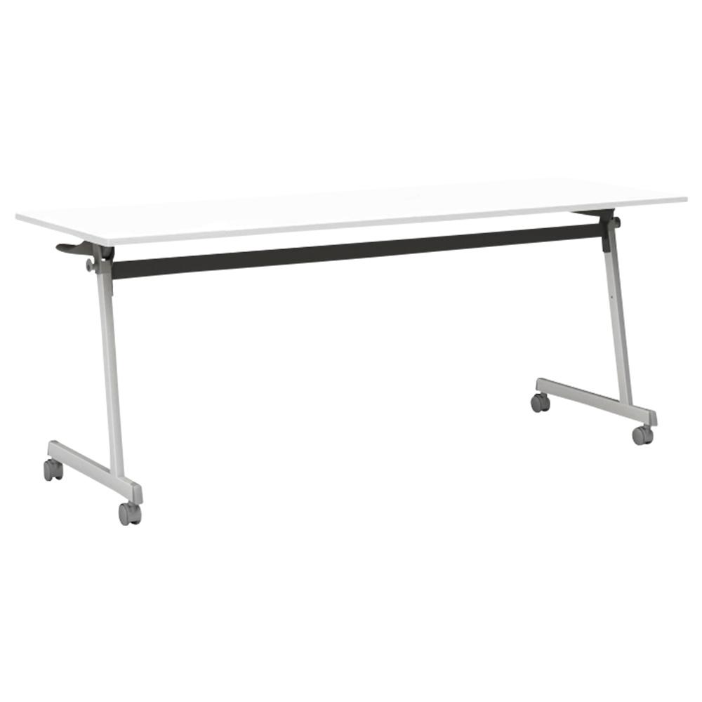 オフィス用IRIS Z脚スタッキングテーブル W1800 D450 H720  ホワイト