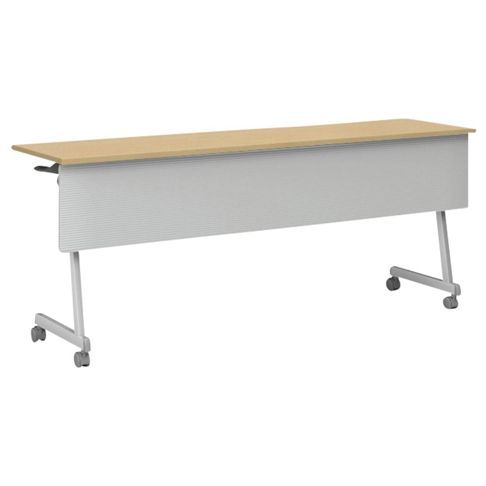 オフィス用IRIS Z脚スタッキングテーブル W1800 D450 H720  ナチュラル