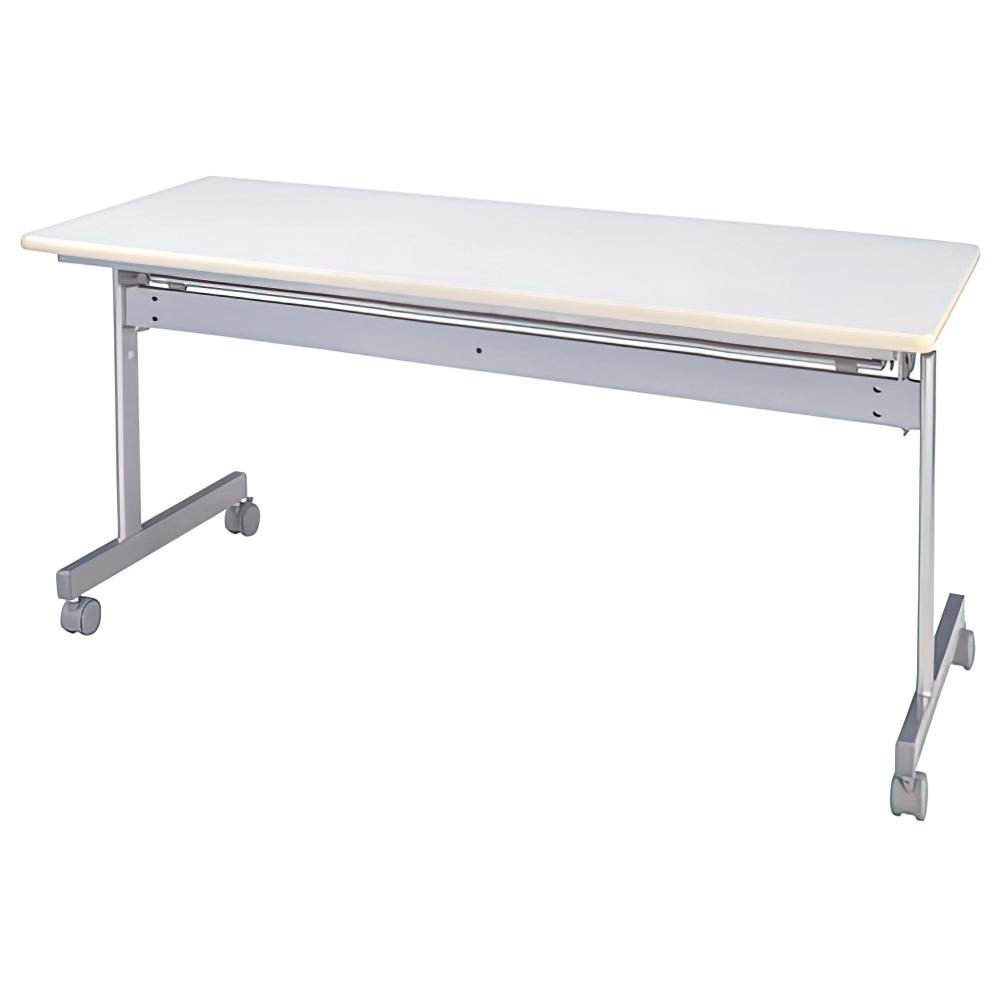 スタッキングテーブル W1500×D600×H700mm 会議机 長机 ネオホワイト スタックテーブル 跳上式 会議テーブル オフィス家具