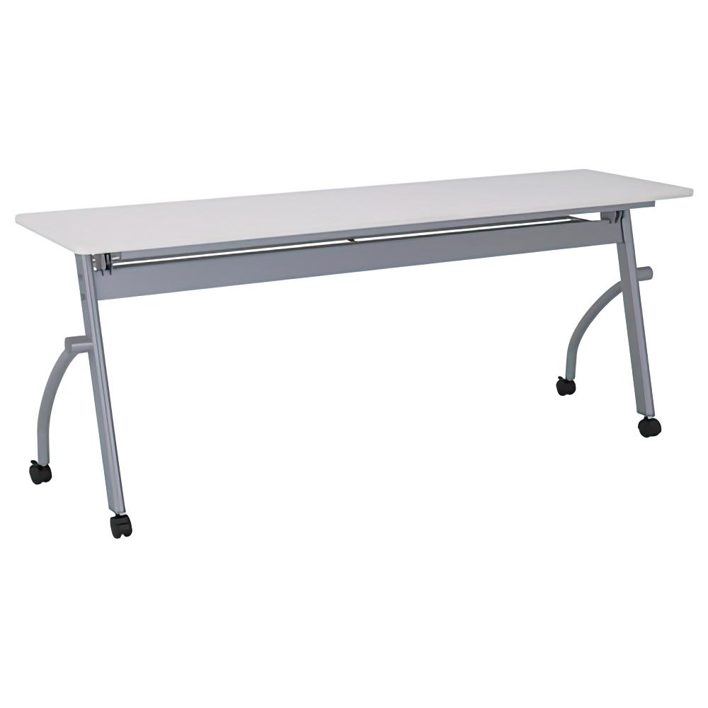 平行スタッキングテーブル W1800×D450×H700mm ソフトエッジ 会議机 長机 メーブル 幕板無し スタックテーブル 跳上式 会議テーブル オフィス家具