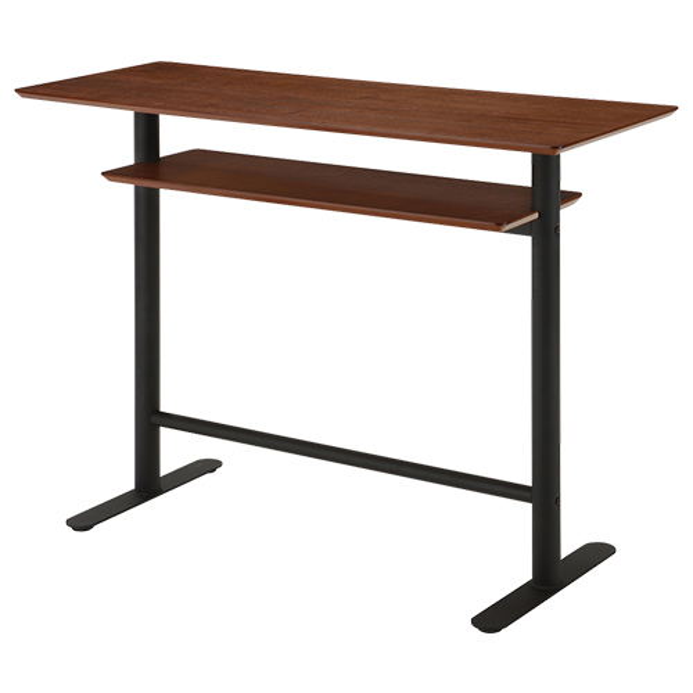 エスタ カウンターテーブル W1200×D450×H900mm ウォルナット ハイテーブル カウンター
