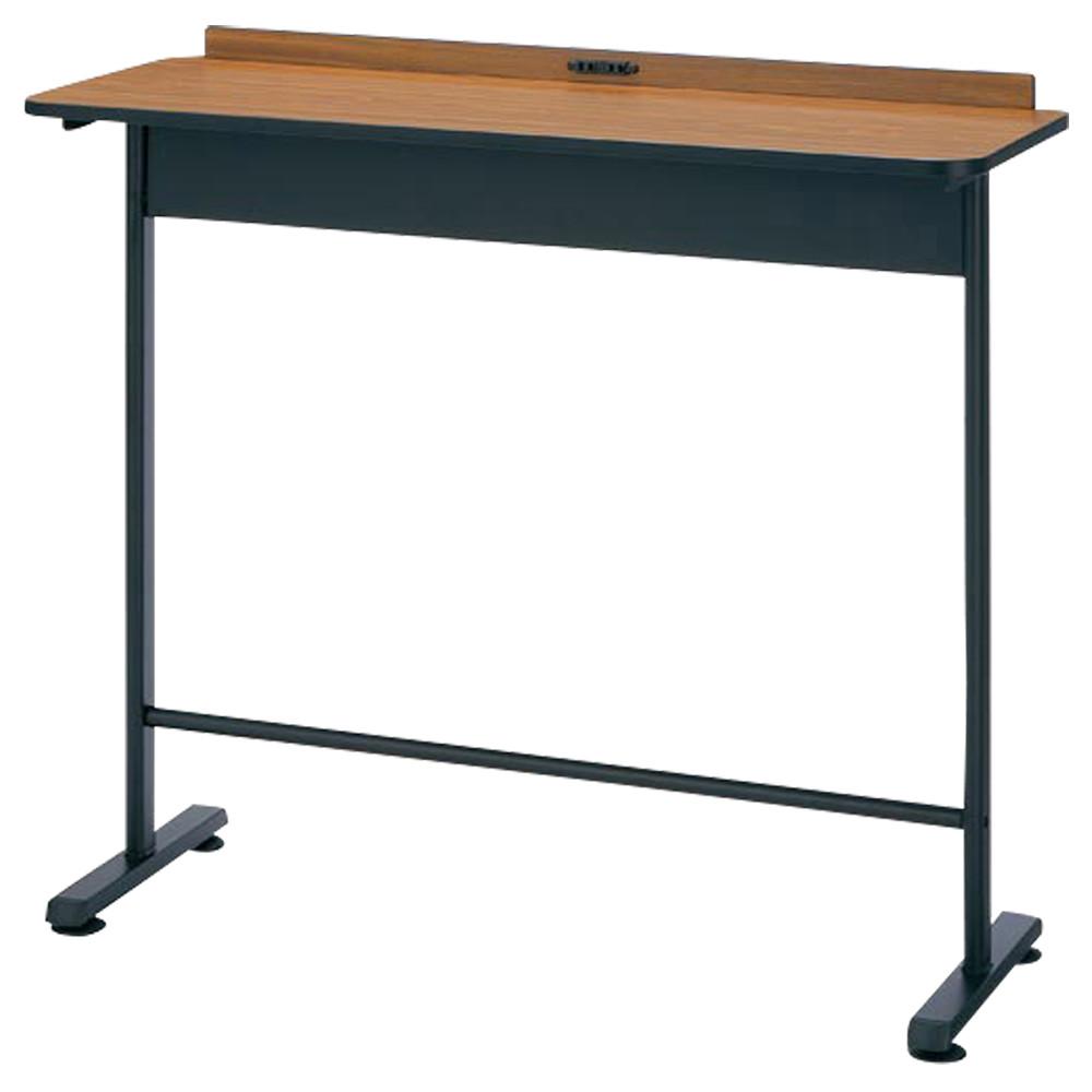 コンセント付きハイテーブル  W1200×D450×H1000mm ハイデスク ワークデスク カフェテーブル カウンターテーブル オフィス家具
