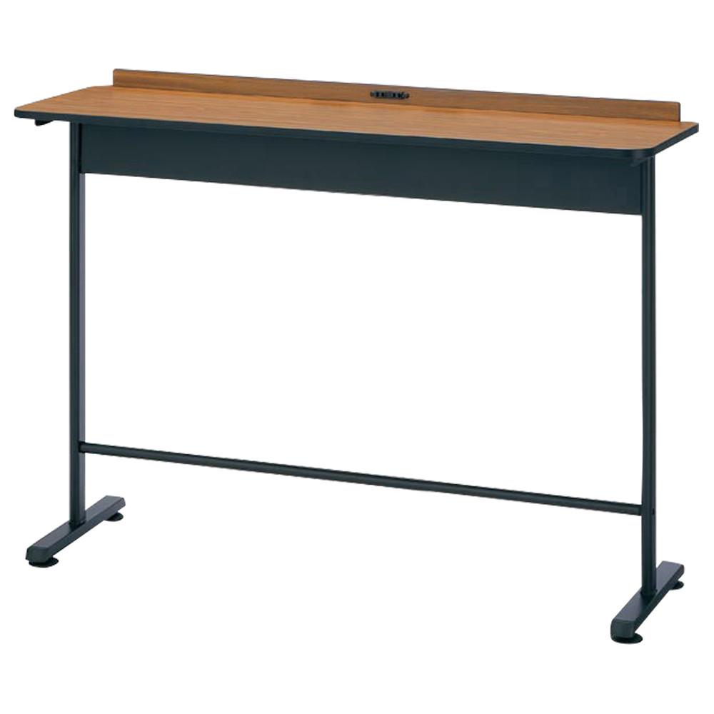 コンセント付きハイテーブル  W1500×D450×H1000mm ハイデスク ワークデスク カフェテーブル カウンターテーブル オフィス家具