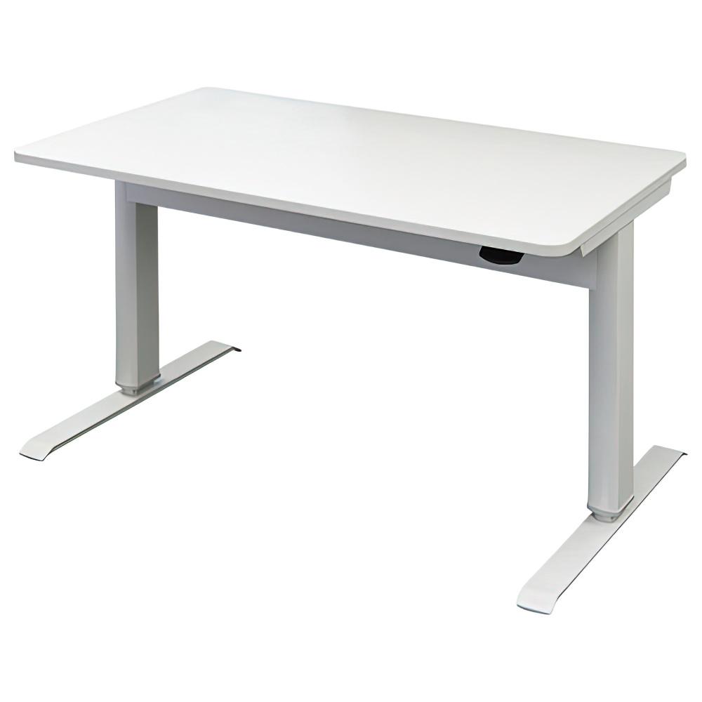 エアロリフトテーブル W1200×D700×H700-1130mm ホワイト オフィスデスク 事務机 上下昇降テーブル ハイテーブル オフィス家具