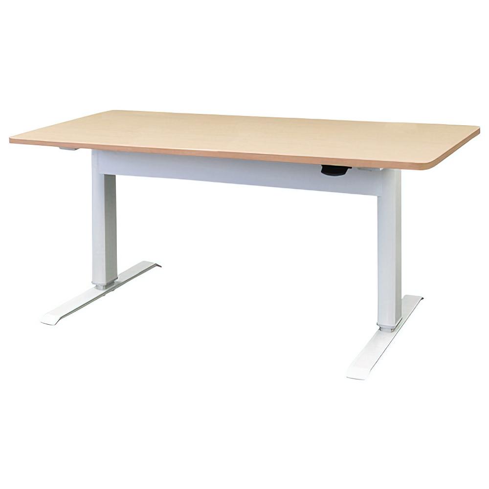 エアロリフトテーブル W1500×D700×H700-1130mm ナチュラル オフィスデスク 事務机 上下昇降テーブル ハイテーブル オフィス家具