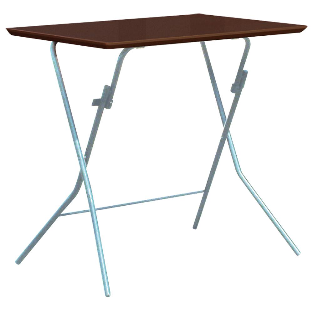 スタンドタッチテーブル W750 D500 H700 ダークブラウン テーブル 用途別ワークテーブル 折りたたみタイプ オフィス家具 オフィステーブル 会議用テーブル オフ