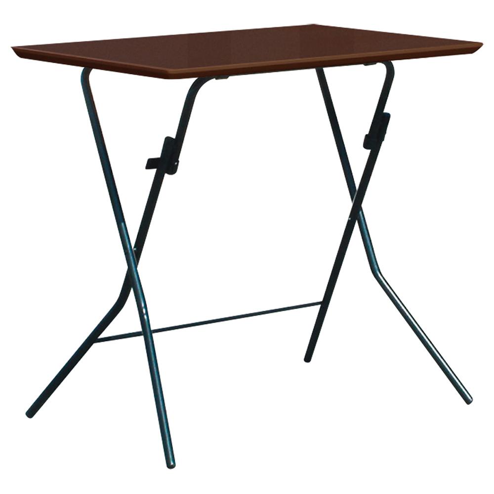 オフィス用スタンドタッチテーブル W750 D500 H700  ダークブラウン