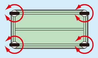 軽量作業台SELタイプ 移動式