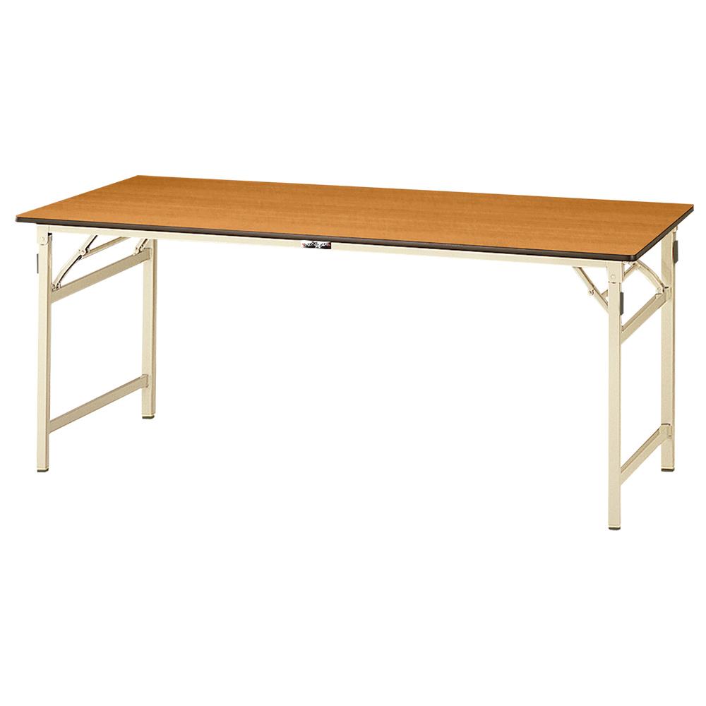オフィス用折りたたみワークテーブル W1500 D600 H740 その他木目 工場物流作業現場用品 テーブル 作業台