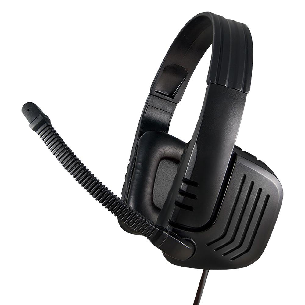 オフィス用ゲーミング4極ヘッドセット W160 D65 H190  ブラック