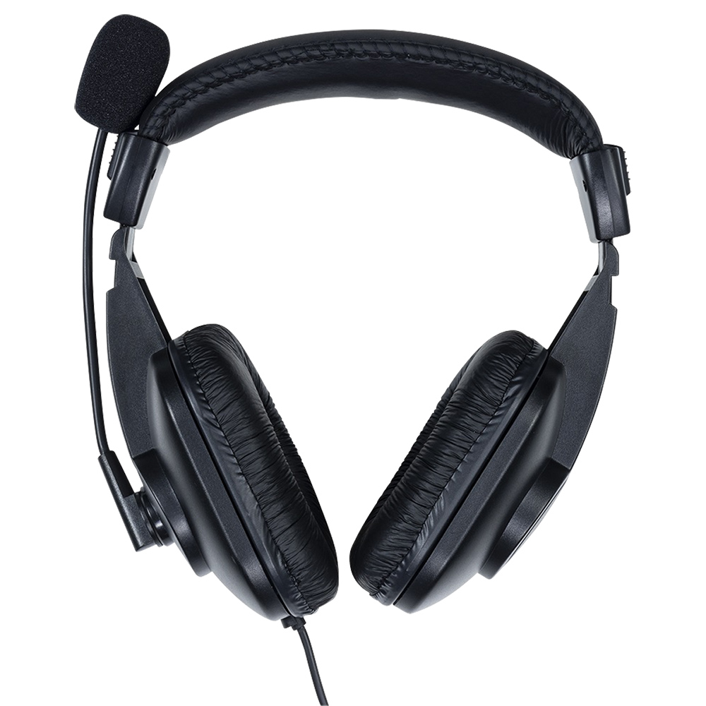 オフィス用ゲーミング4極ヘッドセット W180 D80 H190  ブラック
