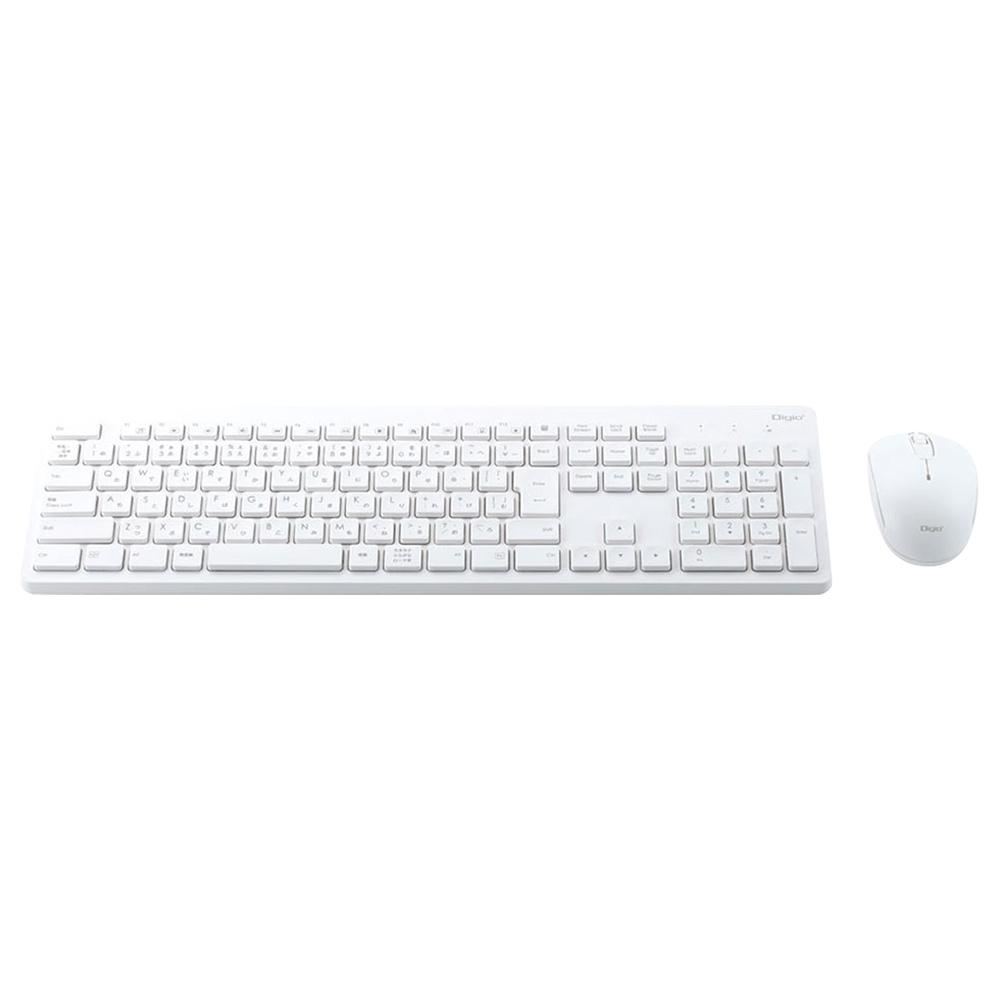 オフィス用無線キーボード&マウスセット W448 D136 H24  ホワイト
