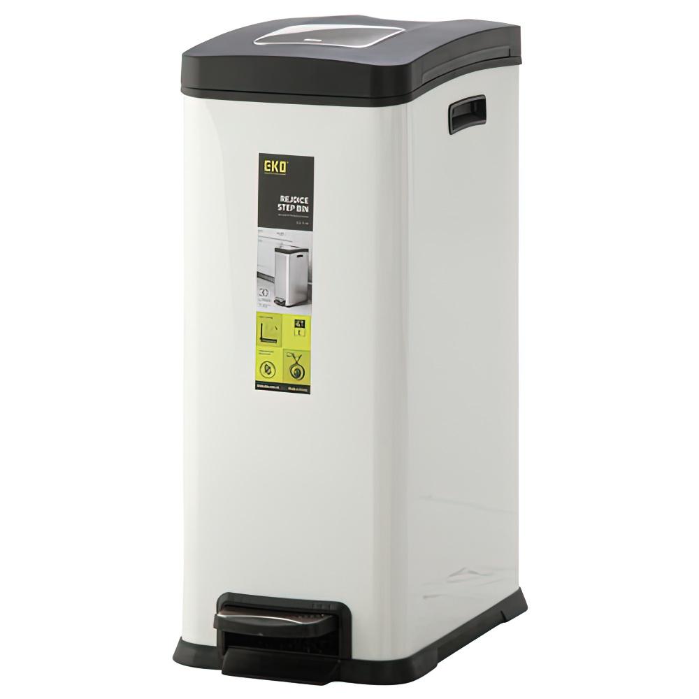 キューブステップビン 30L ホワイト W264×D459×H636mm ダストボックス ゴミ箱 ペダル式 オフィス家具