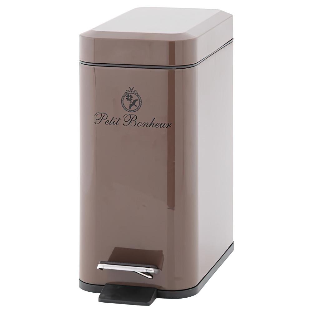 ペダル式ダストボックス 5L ブラウン W310×D140×H300mm ベディボヌール ゴミ箱 フタ付き オフィス家具