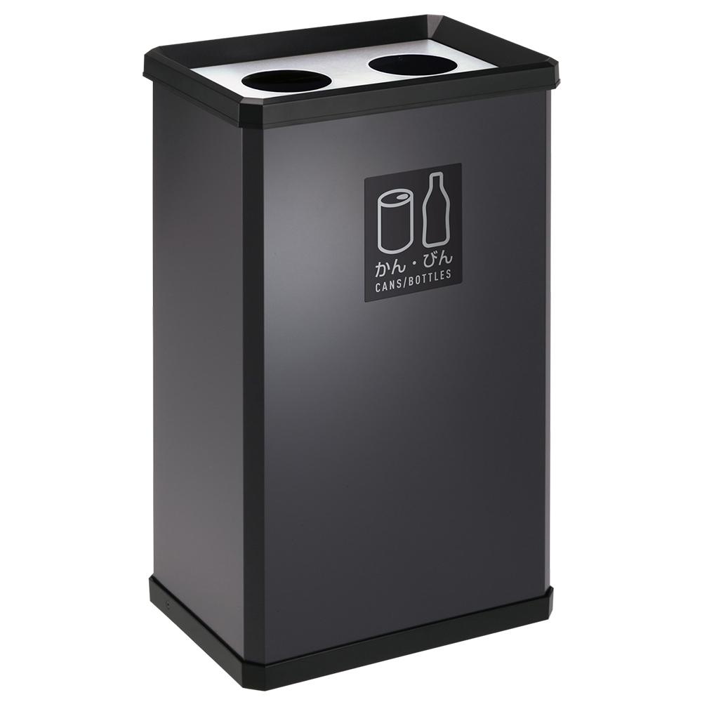 スチールダストボックスL W360 D250 H600 ダークグレー 収納家具 その他収納家具 ダストボックス 日用品 ゴミ箱用品 ゴミ箱 ゴミ グリーン オフィス ペットボト
