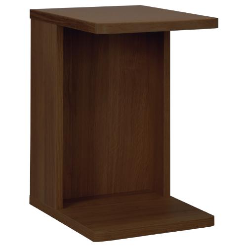 スニー サイドテーブル キャスター無し W350×D450×H560mm ウォールナット ミニテーブル ソファーサイド 木目 大川家具 オフィス家具