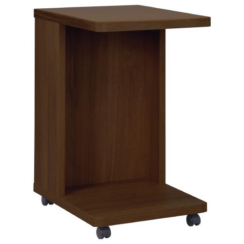 スニー サイドテーブル キャスター付き W350×D450×H560mm ウォールナット ミニテーブル ソファーサイド 木目 大川家具 オフィス家具